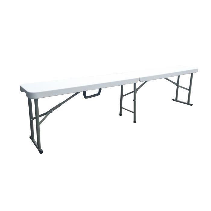 Salon de jardin pliable avec banc - Achat / Vente pas cher