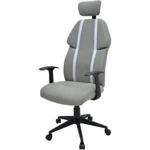 CHAISE DE BUREAU BUZZ Chaise de bureau - Simili et tissu gris - Sty