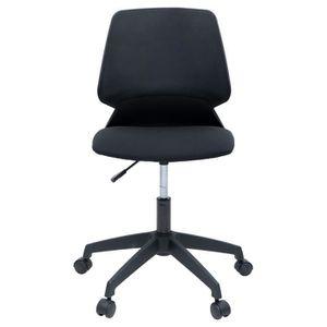 CHAISE DE BUREAU MIALY Chaise de bureau - Tissu noir - Contemporain