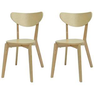 CHAISE SMILEY Lot de 2 chaises de salle à manger en bois