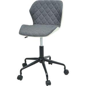 CHAISE DE BUREAU SQUATE Chaise de bureau - Tissu et simili gris fon