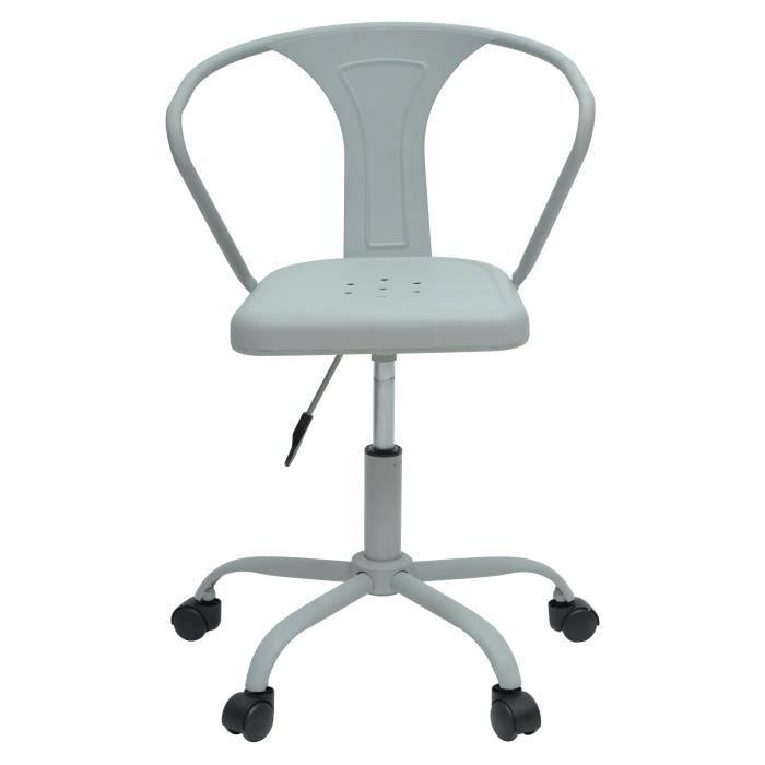 CHAISE DE BUREAU COMETE Chaise de bureau - Métal gris clair mat - I