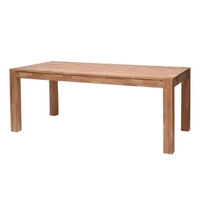 Table bois et fer achat vente table bois et fer pas for Table en chene massif pas cher