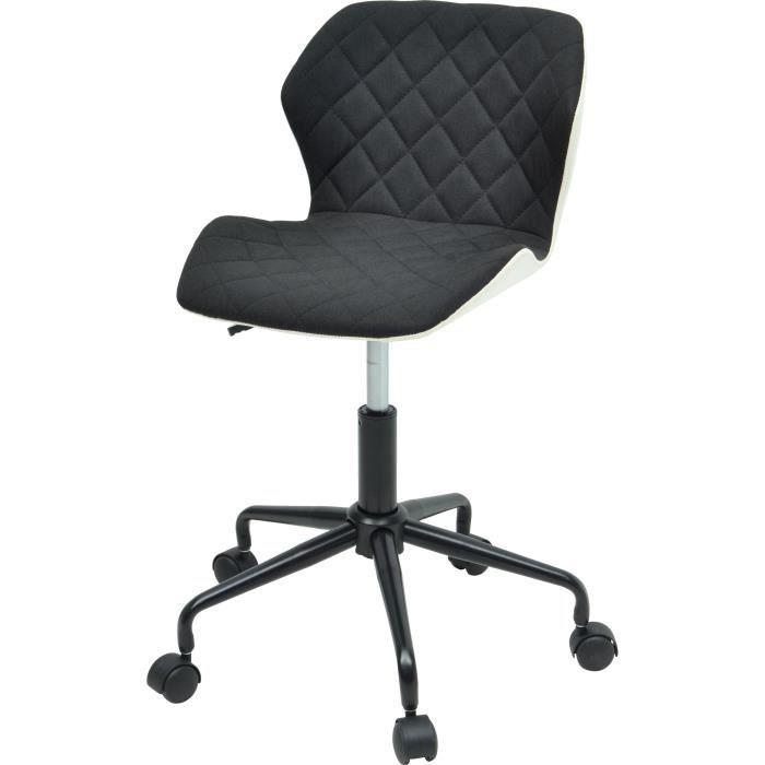 Squate Tissu X P L Bureau Style Noir Cm 35 42 Et Chaise De Industriel Simili PwiuOkXZlT