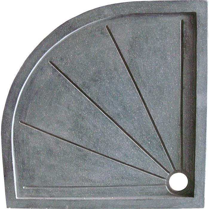 receveur de douche 1/4 de cercle 100x100