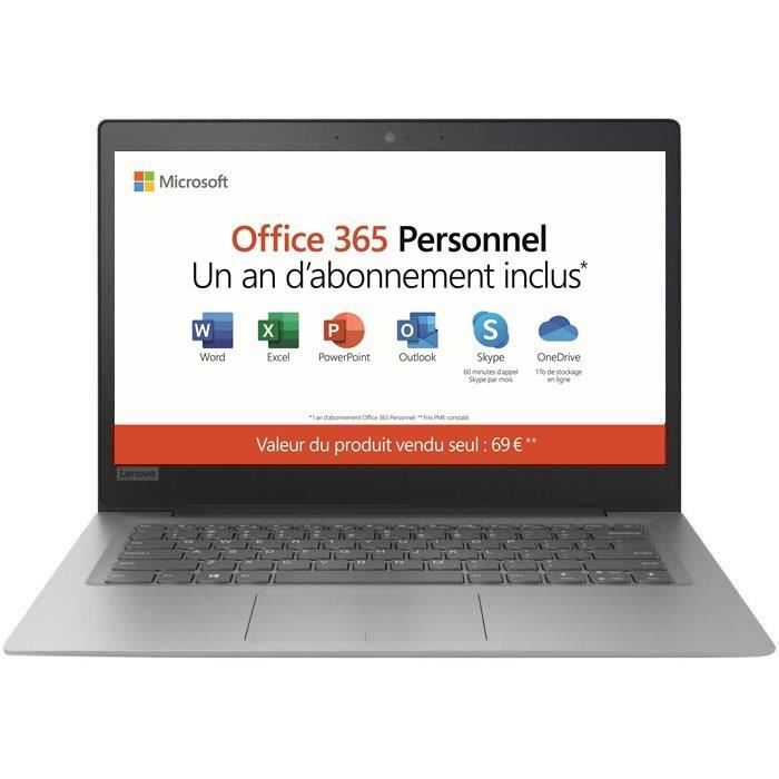 ORDINATEUR PORTABLE PC Ultrabook - LENOVO Ideapad S130-14IGM - 14 pouc