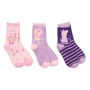 CHAUSSETTES PEPPA PIG Lot de 3 Paires de Chaussettes Violet En