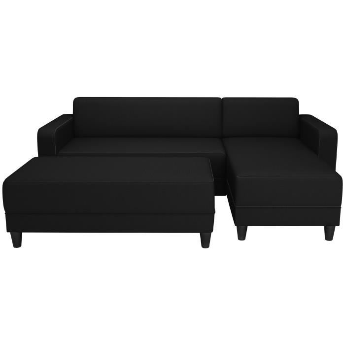 canape d angle noir tissu homeezy. Black Bedroom Furniture Sets. Home Design Ideas