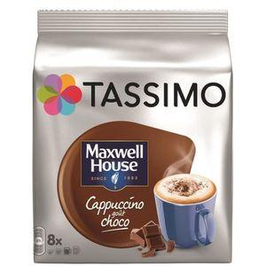 CAFÉ - CHICORÉE TASSIMO Maxwell House Cappucchoco - 5 paquets de 8