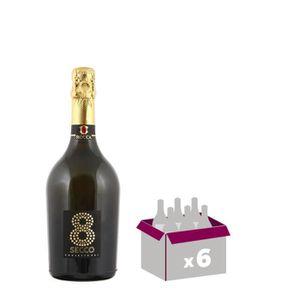 VIN BLANC ROCCA 8 Secco Prosseco Vin d'Italie - Blanc - 75 c