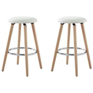 tabouret de bar blanc achat vente tabouret de bar blanc pas cher cdiscount. Black Bedroom Furniture Sets. Home Design Ideas