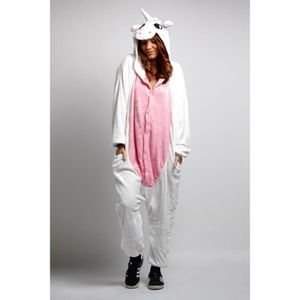 DÉGUISEMENT - PANOPLIE KIGURUMI Pyjama Adulte Licorne Rose