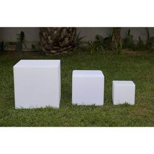 DÉCORATION LUMINEUSE BATIMEX Cube Led sans fil télécommandable 20 cm -