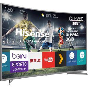 Téléviseur LCD HISENSE - H49N6600 - TV LED - UHD incurvée - 49