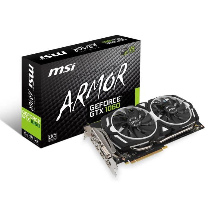 CARTE GRAPHIQUE INTERNE MSI Carte graphique GeForce® GTX 1060 ARMOR 6G OCV