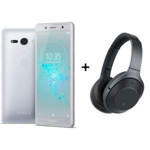 SMARTPHONE RECOND. Sony Xperia XZ2 Compact Blanc Argenté + Sony WH-10
