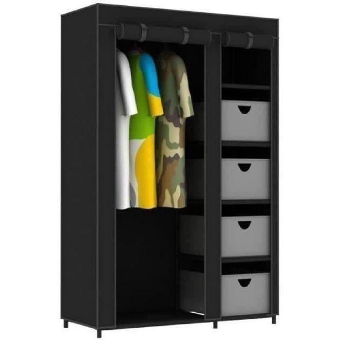 armoire penderie souple nomad 4 tiroirs 177x108x45 cm en. Black Bedroom Furniture Sets. Home Design Ideas