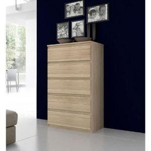 COMMODE DE CHAMBRE FINLANDEK Commode NATTI contemporain décor chêne -