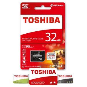CARTE MÉMOIRE Toshiba Exceria Carte mémoire Micro SD 32 Go