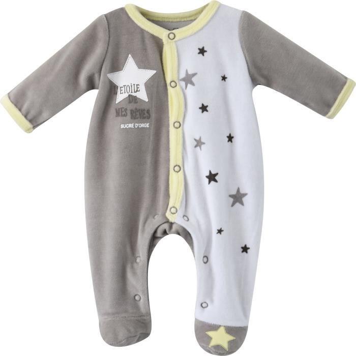 b5eefb5055681 PYJAMA Pyjama bébé Garçon SUCRE D ORGE - Velours Gris
