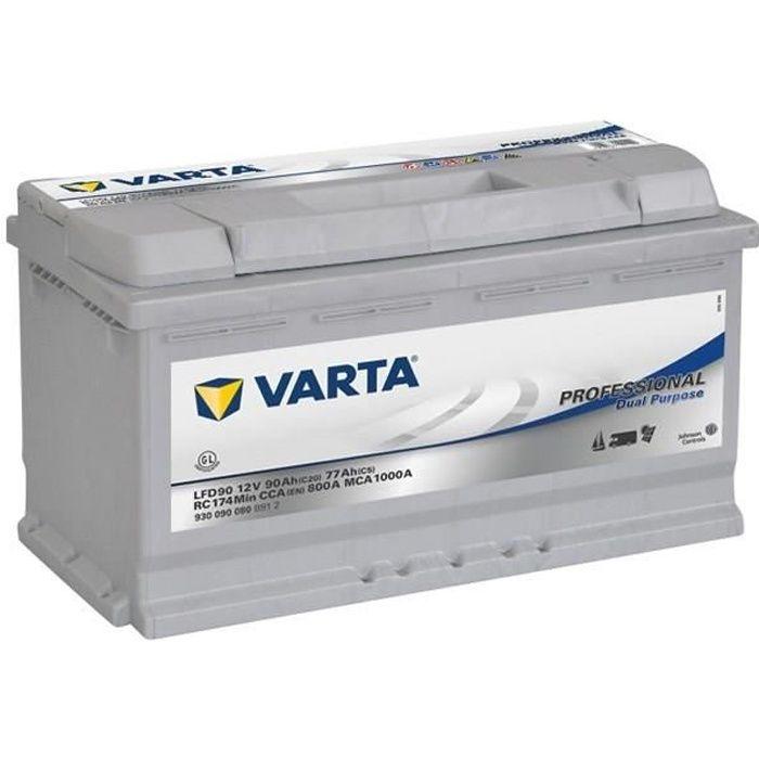 BATTERIE VÉHICULE VARTA Batterie Auxiliaire Acide Professionnel 90 A