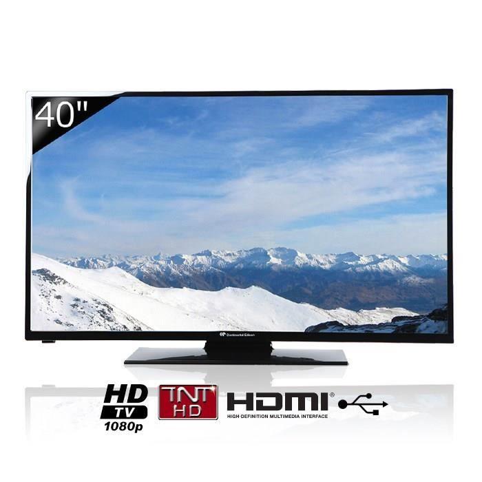 continental edison tv led full hd 40 101 cm achat vente t l viseur led continental edison. Black Bedroom Furniture Sets. Home Design Ideas