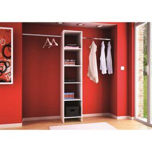 skirt kit placard extensible 120 200cm blanc achat vente barre de penderie kit placard 5r 2. Black Bedroom Furniture Sets. Home Design Ideas