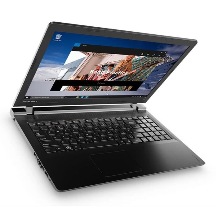 lenovo pc portable ideapad 100 15ibd 15 6 ram 4 go windows 10 intel core i3 5005u intel hd. Black Bedroom Furniture Sets. Home Design Ideas