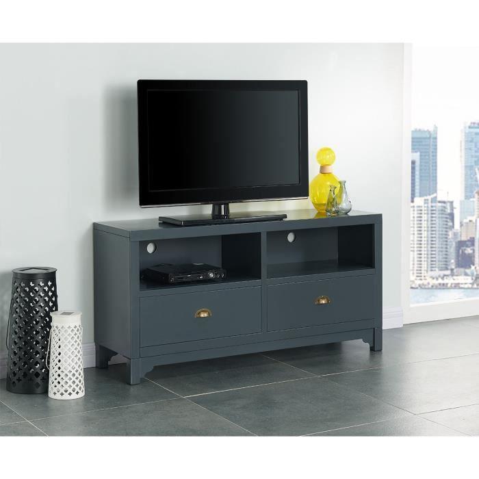 Camden meuble tv en m tal 120 cm gris fonc achat vente meuble tv camden meuble tv black - Meuble tv 120 cm ...