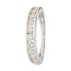 ALLIANCE - SOLITAIRE LE DIAMANTAIRE Alliance Or Blanc 750° et Diamants