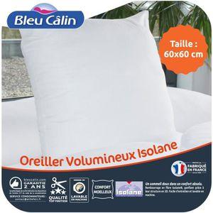 OREILLER BLEU CALIN Oreiller VOLUMINEUX 100% coton - 60 x 6