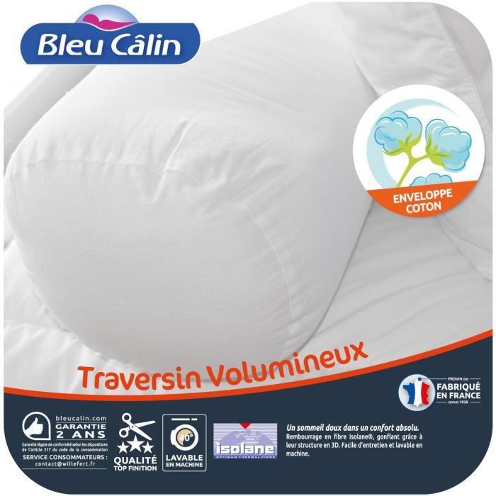 oreiller isolane BLEU CALIN Traversin volumineux Isolane 160 cm blanc   Achat  oreiller isolane
