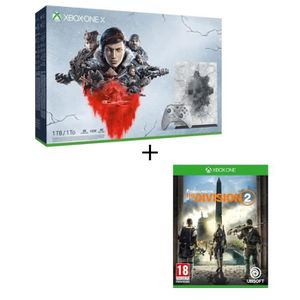 CONSOLE XBOX Xbox One X 1 To Edition Limitée + 5 jeux Gears of