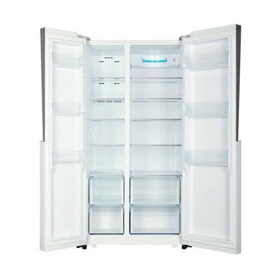 HAIER HRF-521DM6 - Réfrigérateur américain - 518L (341+177) - Froid ventilé  - A+ - L 90,8cm x H 179cm - Inox