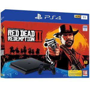 CONSOLE PS4 NOUVEAUTÉ Pack PS4 1 To Noire  + Red Dead Redemption 2