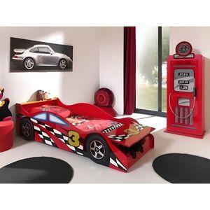 STRUCTURE DE LIT FUN Lit enfant Toddler Race Car Bed rouge