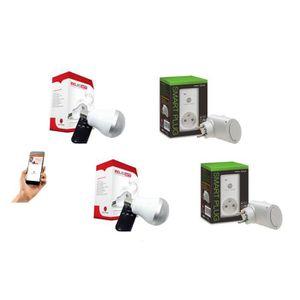 PACK DOMOTIQUE NEW DEAL Pack de 2 prises connectées WiFi Speco+ e