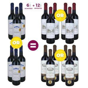 VIN ROUGE 6 = 18 Pack Bordeaux Médaillé d'Or - Vin rouge