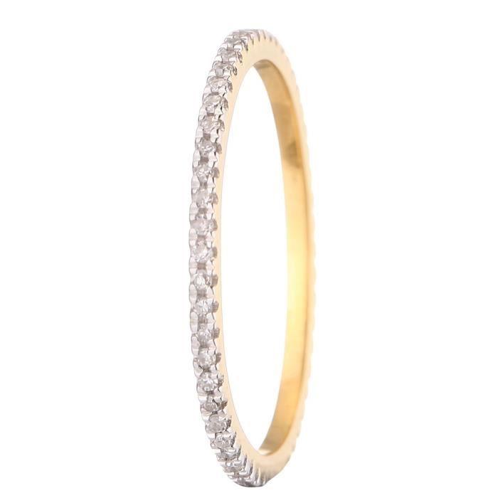 LE DIAMANTAIRE Alliance Or Jaune 750° et Diamants