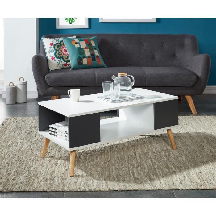 Babette table basse scandinave pieds en eucalyptus l 90 for Pied table basse scandinave