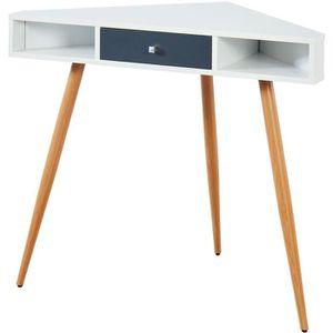 bureau blanc achat vente bureau blanc pas cher soldes d s le 9 janvier cdiscount. Black Bedroom Furniture Sets. Home Design Ideas