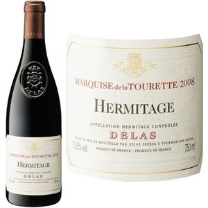 VIN ROUGE Marquise de la Tourette Hermitage Delas 2008 - Vin