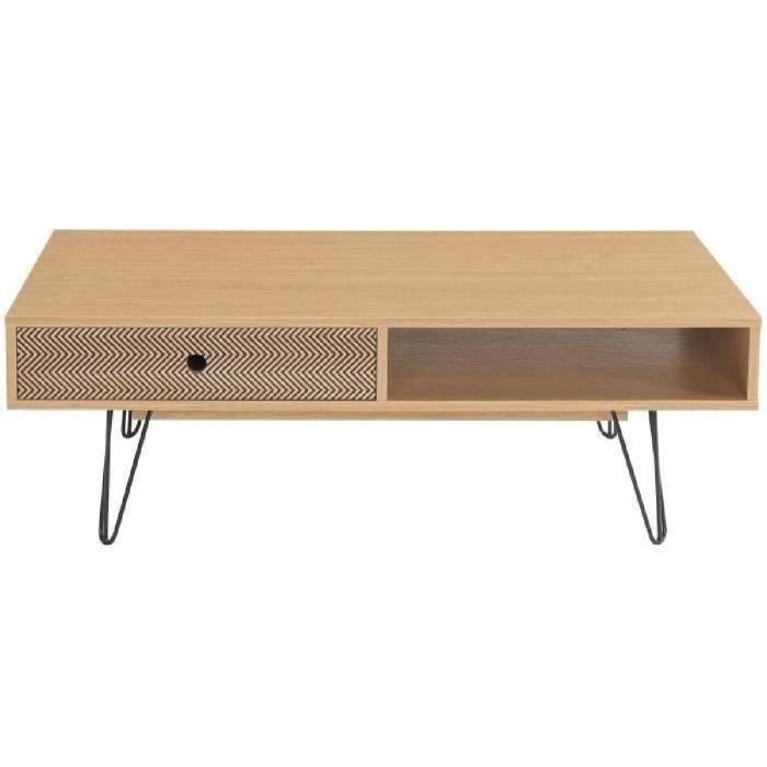 Colette table basse scandinave d cor ch ne et impression for Table basse scandinave chene