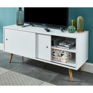 MEUBLE TV ANNETTE 11 Meuble TV scandinave - Pieds en bois d'