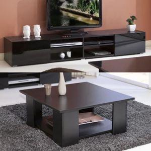 ensemble table basse meuble tv achat vente pas cher. Black Bedroom Furniture Sets. Home Design Ideas