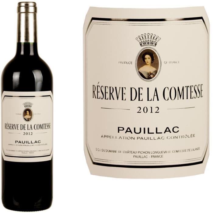 Reserve De La Comtesse Pauillac 2012 Achat Vente Vin Rouge