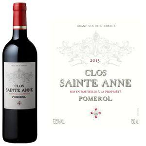 VIN ROUGE Clos Sainte Anne Pomerol 2013 - Vin rouge x6