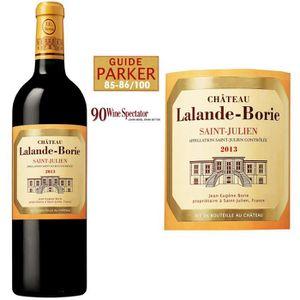 VIN ROUGE Château Lalande Borie Saint Julien 2013 - Vin r...