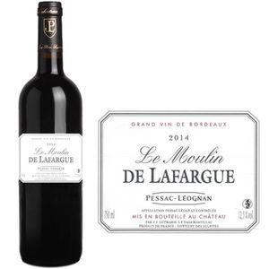 VIN ROUGE Moulin de Lafargue 2014 Pessac Léognan - Vin rouge