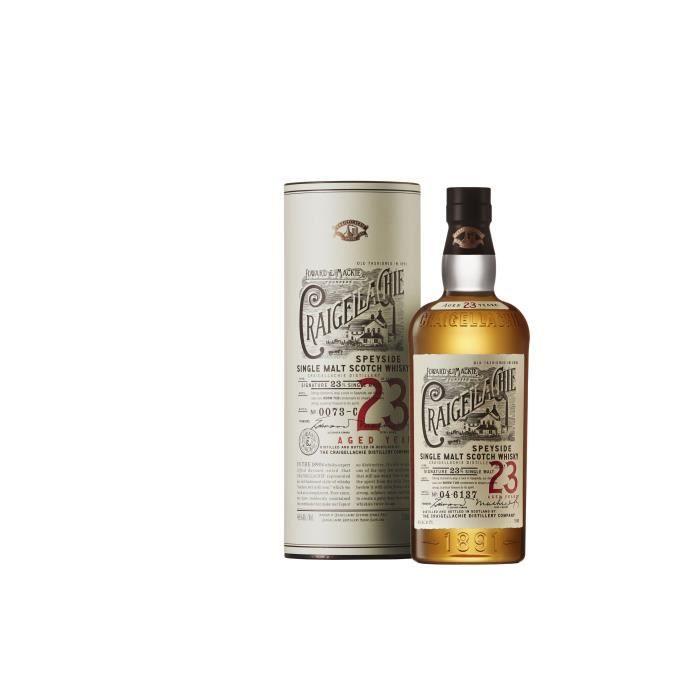 WHISKY BOURBON SCOTCH Craigellachie 23 ans - Single Malt - 70cl - 46°
